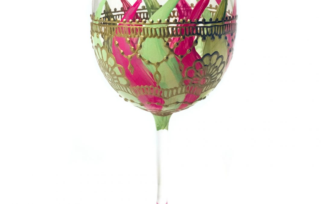 Sankara Workshop – Wine Glass Painting