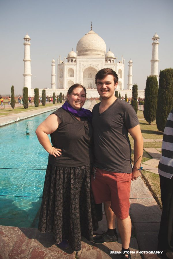 Courtney and Daniel at the Taj Mahal