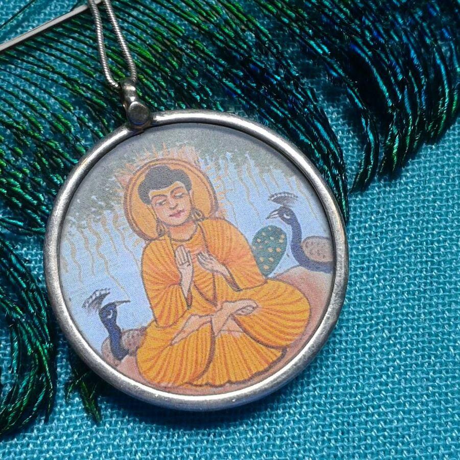 Hand painted Buddha Pendant