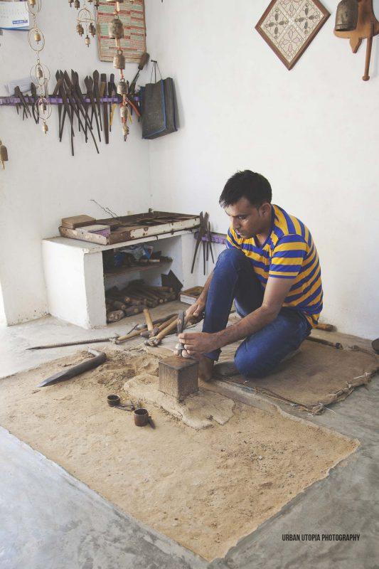 Making bells in Bhuj