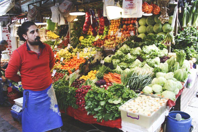 Vegetable seller, Istanbul